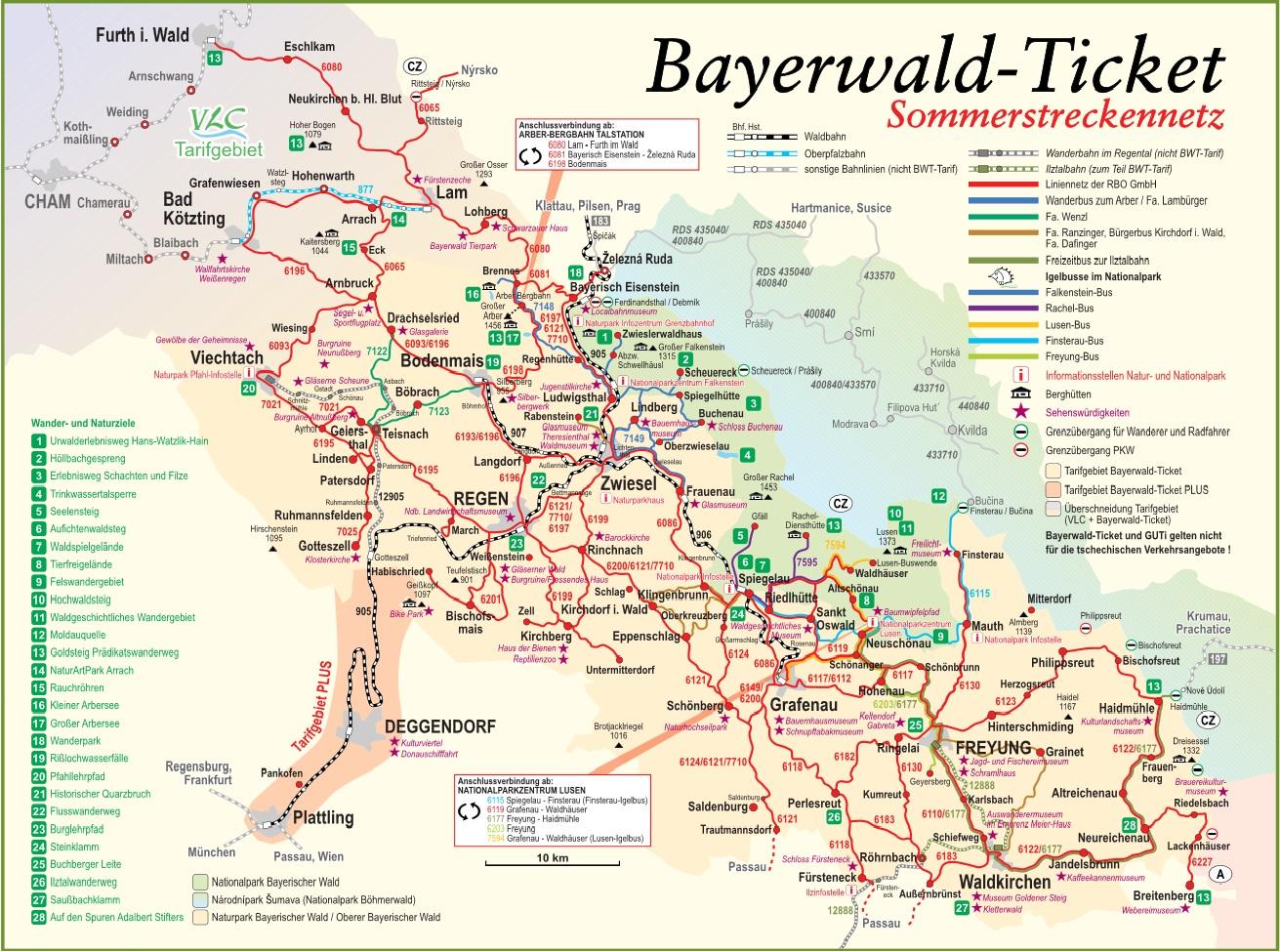 Mapa Turisticka Mapa Bavorsky Les